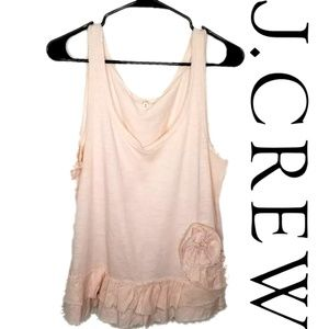 J.CREW BLUSH PINK TOP SIZE M WITH FLOWERS